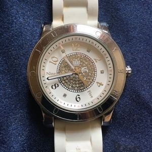JUICY COUTURE White Watch w/ Jelly Band